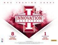 2012-2013 Panini Innovation Basketball Product Information Sheet