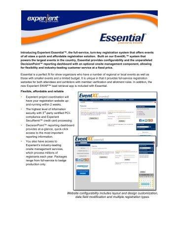 Essential registration - Experient