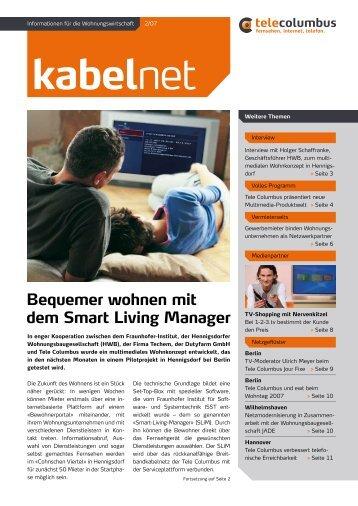 Bequemer wohnen mit dem Smart Living Manager - Tele Columbus