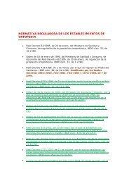 normativa reguladora de los establecimientos de ortopedia