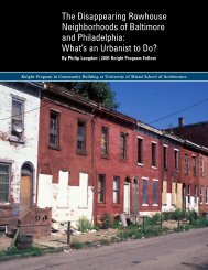 The Disappearing Rowhouse Neighborhoods of Baltimore and ...