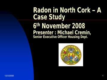 Radon in North Cork - Radiological Protection Institute of Ireland