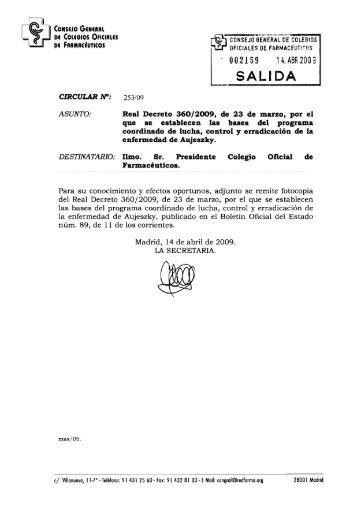 BOLETíN OFICIAL DEL ESTADO - Colegio Oficial de Farmacéuticos ...