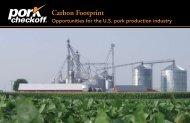 Carbon Footprint - National Pork Board