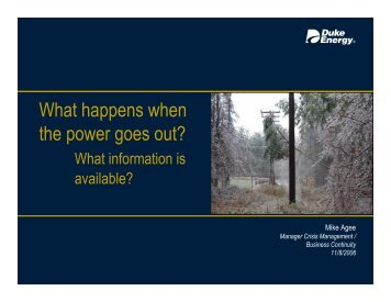 What happens when the power goes out?