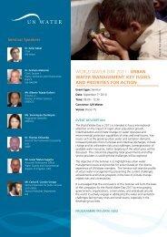 World Water day 2011 - Urban Water ManageMent: Key ... - UN-Water