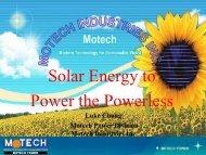 Solar Energy to Power the Powerless - acuns