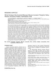 Winter ecology of the Arunachal macaque Macaca munzala in ...