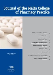 Journal of the Malta College of Pharmacy Practice