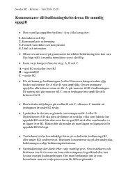 Bedömningskriterier för muntlig uppgift - Folkuniversitetet
