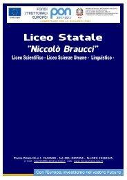 Cartelline Liceo Braucci 2011-2012 FSE - Braucci - Caivano