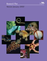 Census of Marine Life Research Plan (Version 2005) - CoML