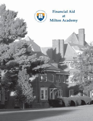 Financial Aid at Milton Academy