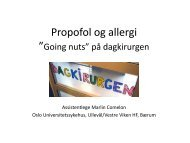 Propofol og allergi