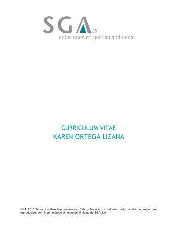CV Karen Ortega SGA