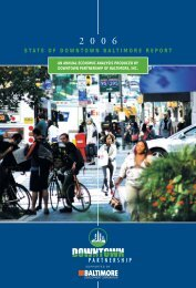 STATE OF DOWNTOWN BALTIMORE REPORT