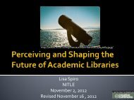 Perceiving and Shaping the Future of Academic Libraries - Digital ...
