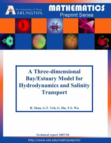 A Three-dimensional Bay/Estuary Model for Hydrodynamics and ...