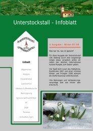 Unterstockstall – Allgemein - Dorferneuerung Unterstockstall