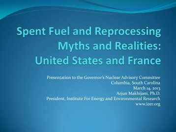 Download the presentation - Institute for Energy and Environmental ...