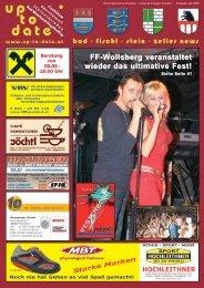 FF-Wollsberg veranstaltet wieder das ultimative Fest! - Up-to-date