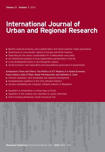 International Journal of Urban and Regional Research