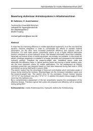 Bewertung stufenloser Antriebssysteme in Arbeitsmaschinen