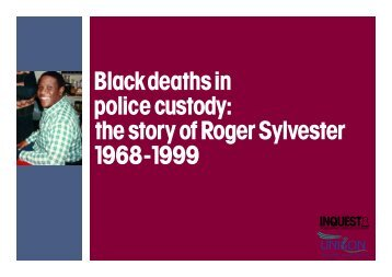INQUEST and UNISON's pamphlet on the case of Roger Sylvester