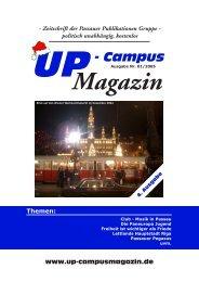 Zeitschrift der Passauer Publikationen Gruppe - UP-Campus Magazin