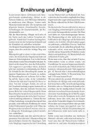 Ernährung und Allergie - Schweizerische Vereinigung für ...