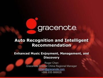 Auto Recognition and Intelligent Recommendation Auto Recognition ...