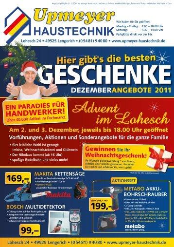 Montag – Freitag - Upmeyer Haustechnik GmbH