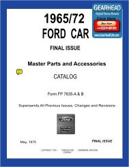 DEMO - 1965-72 Ford Car Master Parts and Accessory Catalog