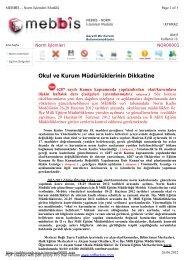 Bakanlık Duyurusu - Mersin İl Milli Eğitim Müdürlüğü