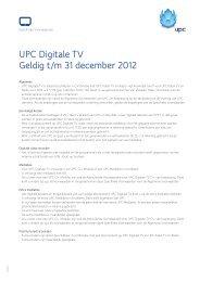UPC Digitale TV Geldig t/m 31 december 2012