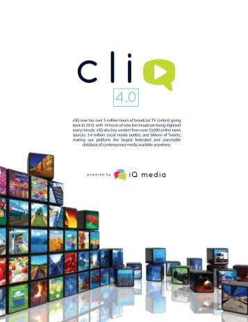 download an overview document - Blog coming soon... - iQ Media