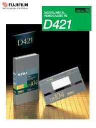 Digital Metal Video Cassette D421 Catalog