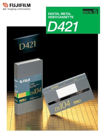 Digital Metal Video Cassette D421 Catalog