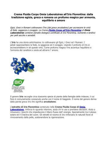 Crema Fluida Corpo Omia Laboratoires all'Iris ... - Informazione.it