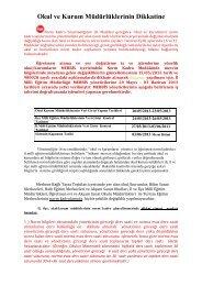 Bakanlık Açıklama - Mersin İl Milli Eğitim Müdürlüğü