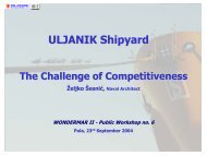 ULJANIK shipyard - The challenge of competitveness - wondermar ii