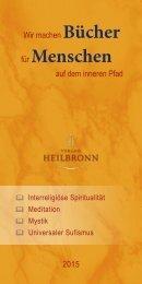 Bücher über Interreligiöse Spiritualität, Meditation und Universaler Sufismus - Verlag Heilbronn 2015