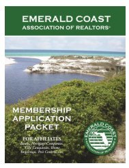 Affiliate 2013 Membership Application - Emerald Coast Association ...