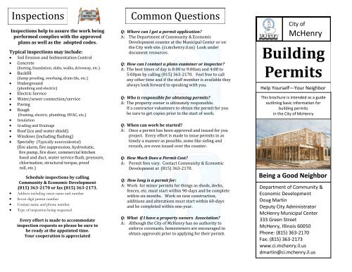 Building Permits - The City of McHenry, Illinois