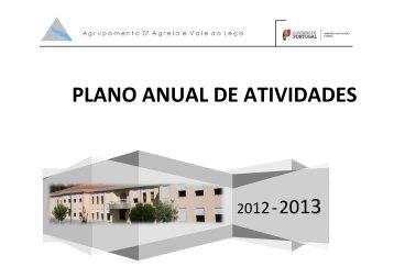 plano anual de atividades - Agrupamento de Escolas da Agrela e ...