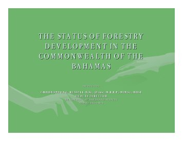 the status of forestry development in the commonwealth of the ...