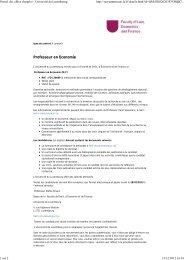 Portail des offres d'emploi - Université du Luxembourg
