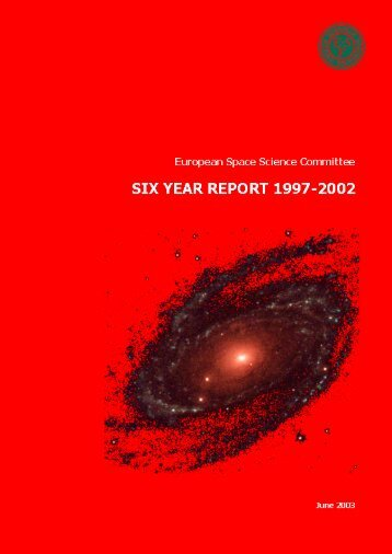 Six-Year Report (1997-2002) - European Science Foundation