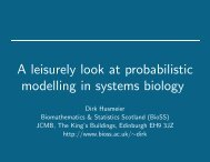 A leisurely look at probabilistic modelling in systems biology