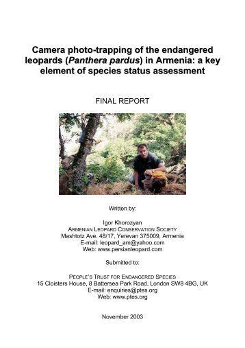 (Panthera pardus) in Armenia - Carnivore Conservation - Free